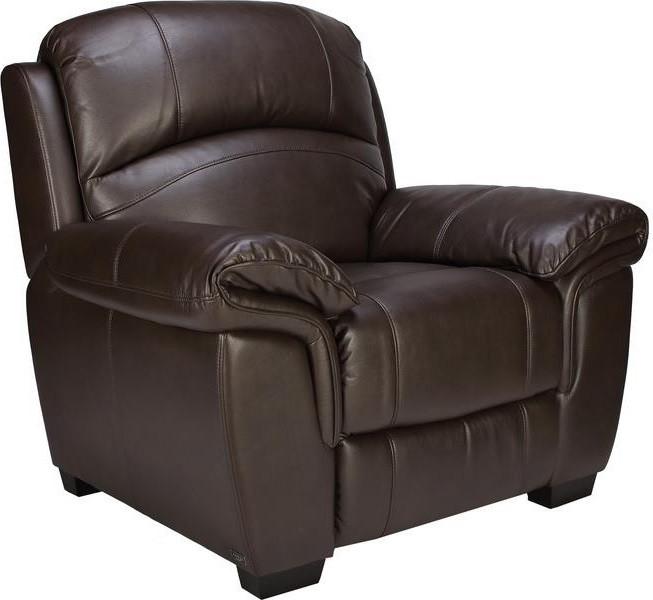 Кресло электро-реклайнер Миллер эко-кожа коричневый TM Bellini