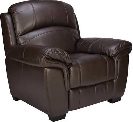 Кресло электро-реклайнер Миллер эко-кожа коричневый TM Bellini, фото 2