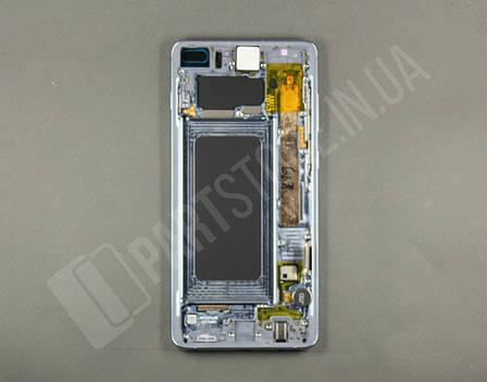 Дисплей Samsung g975 Blue s10+ (GH82-18849C) сервисный оригинал в сборе с рамкой, фото 2