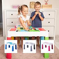 Детский столик для творчества, игр с Lego, песком и водой, Польша