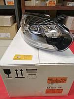 Фара передняя правая линзованная (чёрная кромка) на Renault Megane 3 ф2.(Original 260106128R)