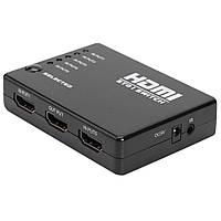Коммутатор HDMI SWITCH 5 Port 1080P ИК пульт