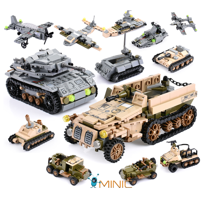 Развивающий конструктор Военный транспорт 1061 шт совместим с Lego