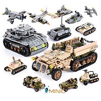 Развивающий конструктор Военный транспорт 1061 шт совместим с Lego, фото 1
