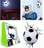 Светильник футбольный мяч 3D Deco Light настенный, фото 1