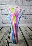 Ручка гелевая Цветок 253 синяя 100642, фото 2