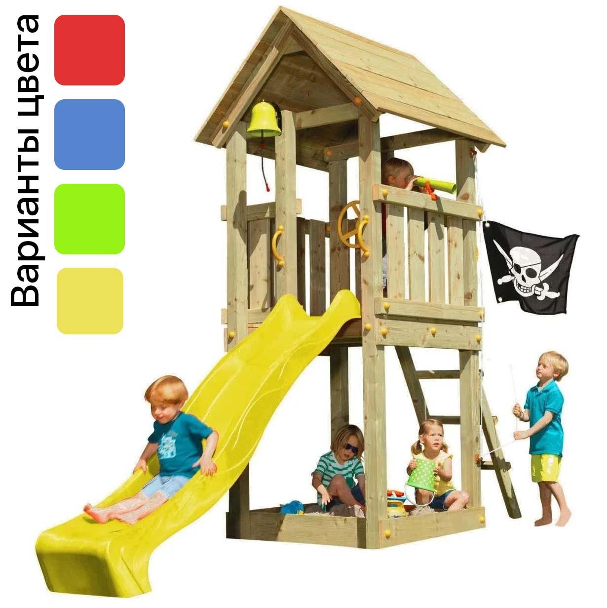 Детская игровая площадка KBT Blue Rabbit KIOSK домик с горкой