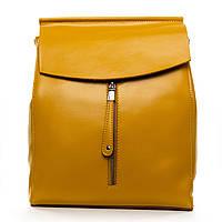Яркий вместительный рюкзак из натуральной кожи  (29*27*12см) ALEX RAI, 1-06 3206 yellow