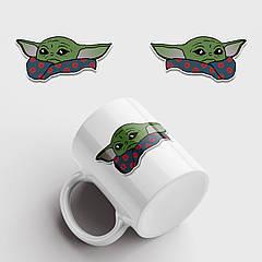 Чашка з принтом Маленький Йоду. Baby Yoda Logo v3. Чашка з фото