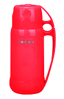 Термос 600 мл амарантовий (пластик, стекло)
