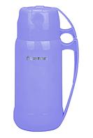 Термос 600 мл фиолетовый (пластик, стекло)