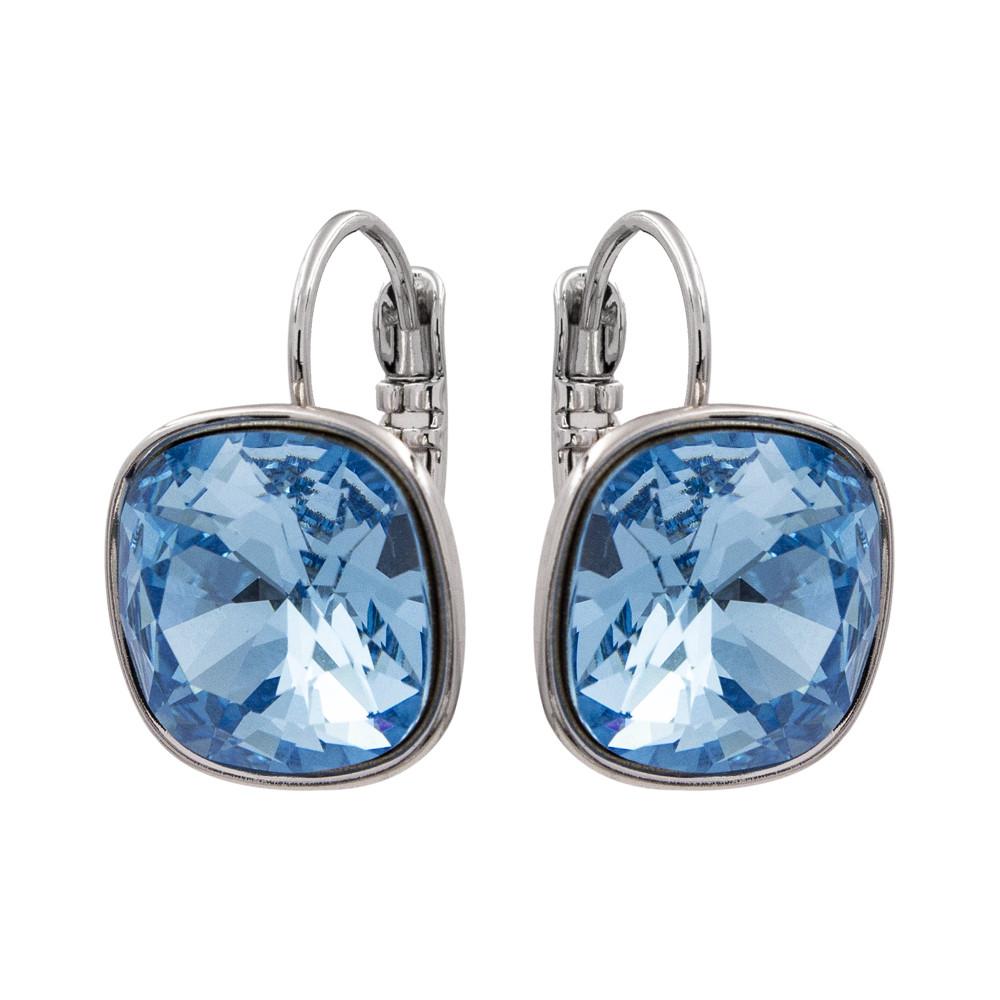 Серьги классические с кристаллами Swarovski родиум