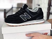 Кроссовки мужские New Balance 574 черные, фото 1