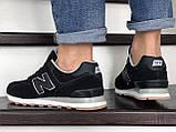 Кроссовки мужские New Balance 574 черные, фото 3