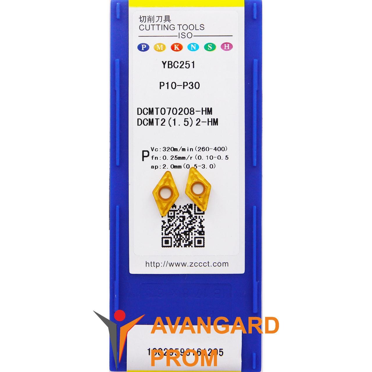 Пластина ZCC-CT DCMT 070208-HM YBC251