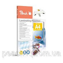 Плівка для ламінування Peach A4 (216x303mm), 125 мкм глянець, 25шт