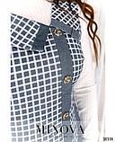 Привлекательное и оригинальное платье батал без рукавов, Размеры: 54,56,58,60,62,64, фото 2