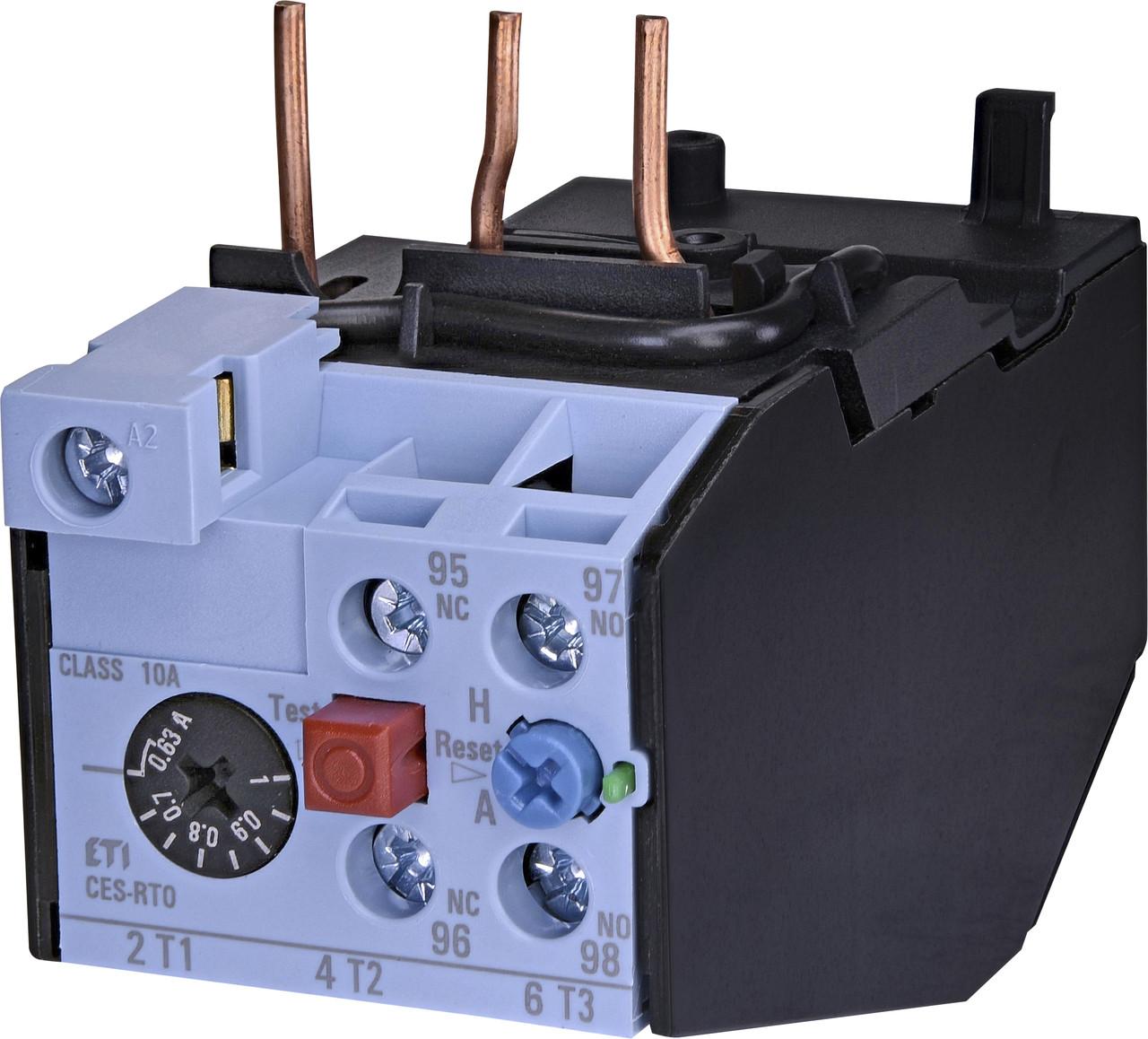 Тепловое реле ETI CES-RT0-1,0 (0,63-1,0A) CES6-CES18 4646589 (для контакторов CES6, CES9, CES12, CES18)