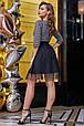 Платье 1278.3911 сероый с черным (S, M, L, XL), фото 2
