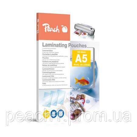 Пленка для ламинирования Peach A5 (154x216mm), 125 мкм глянец, 25шт