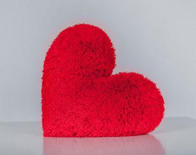 """Подушка """"Сердце"""" красный 50 см"""