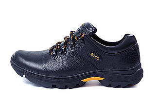 Мужские кожаные кроссовки в стиле Е-series Tracking черные, фото 3