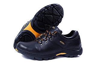 Мужские кожаные кроссовки в стиле Е-series Tracking черные, фото 2