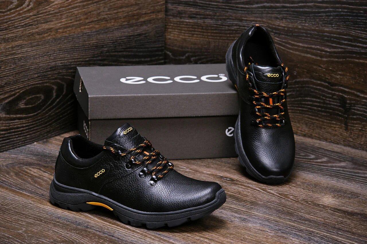 Мужские кожаные кроссовки в стиле Е-series Tracking черные