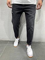 Мужские прямые синие джинсы модные, фото 1
