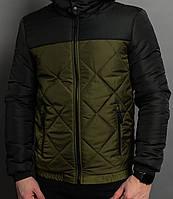 Весенняя мужская куртка Андора Хаки-черная О