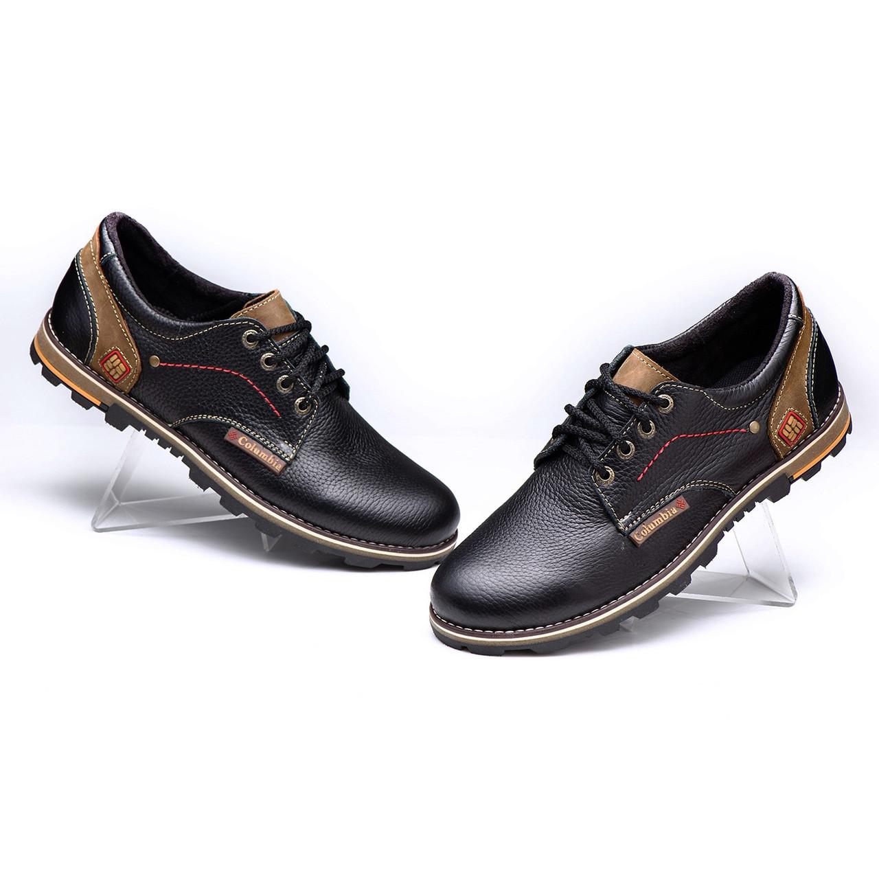 Мужские кожаные туфли Columbia Model -C47 размеры 40 41 42 43 44 45