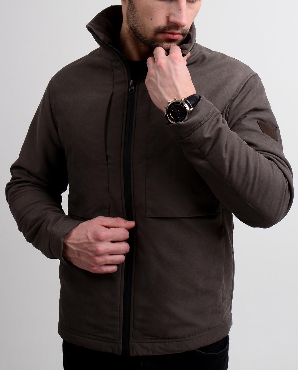 Весенняя мужская куртка Slimtex беж, последний размер XL