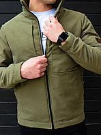 Весенняя мужская куртка Slimtex Хаки Последний размер S