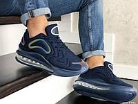 Мужские кроссовки Nike Air Max 720 (Найк Аир Макс 720), темно-синие, код SD-8986