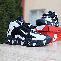 Мужские кроссовки Nike Air Barrage (Найк Аир Барраже), черно-белые, код OD-1997