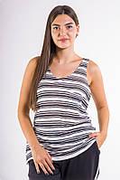 Майка женская 516F0019 цвет Бело-черный
