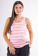 Майка женская 516F0019 цвет Бело-розовый