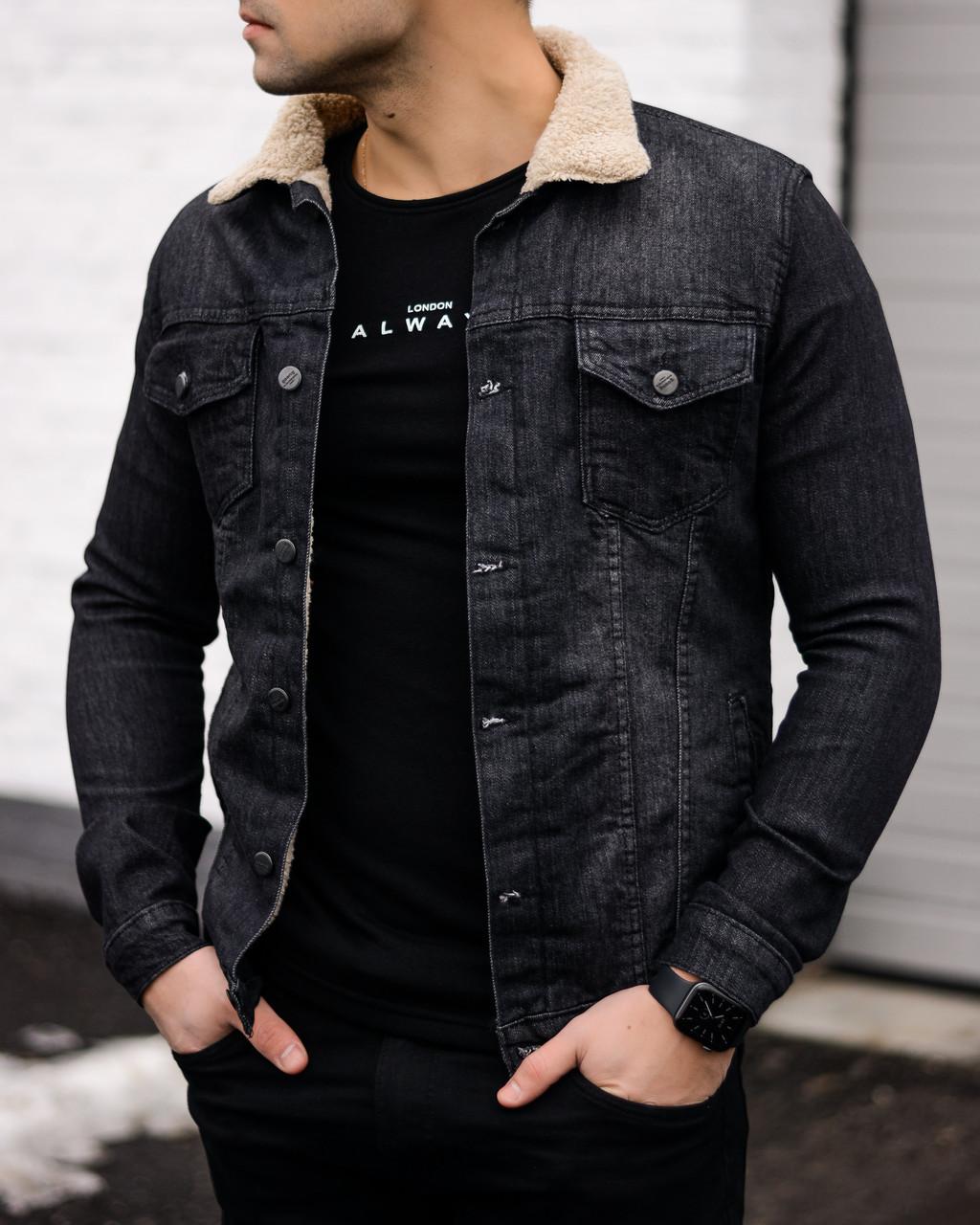 Весенняя мужская куртка/джинсовка Стетхем (S последний размер)