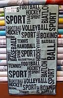 Полотенце  махровое для лица 50*90 Sport-газетка