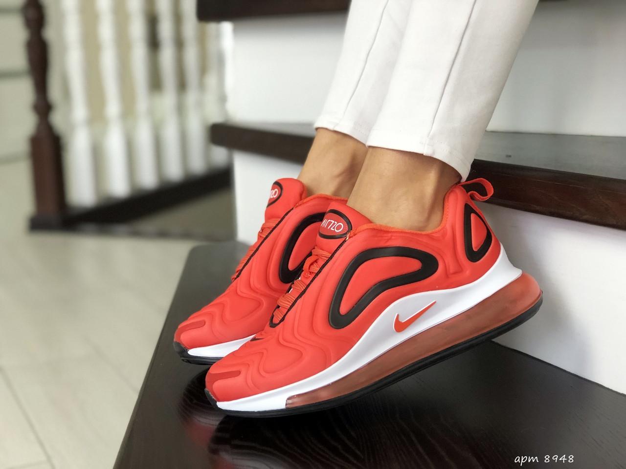 Кроссовки женские  Nike Air Max 720 ярко оранжевые с белым