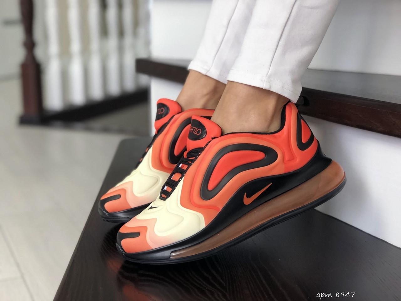 Кроссовки женские  Nike Air Max 720 оранжевые