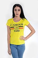 Футболка женская 119R031 цвет Желтый