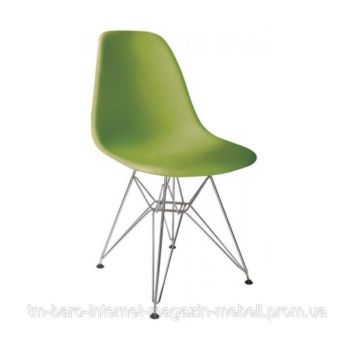Стул Тауэр хром, зеленый (Прайз), Eames