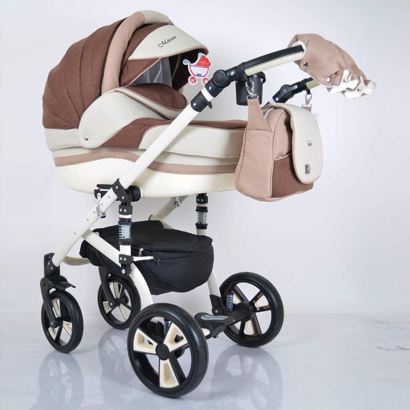 Детская универсальная коляска 2 в 1 MACAN White Brown