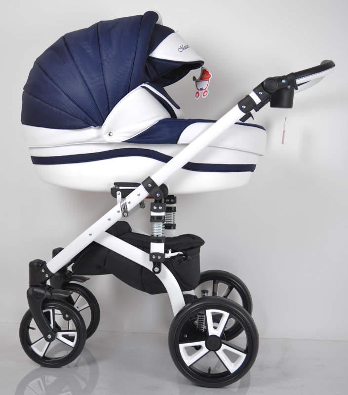 Детская универсальная коляска 2 в 1 MACAN White Blue