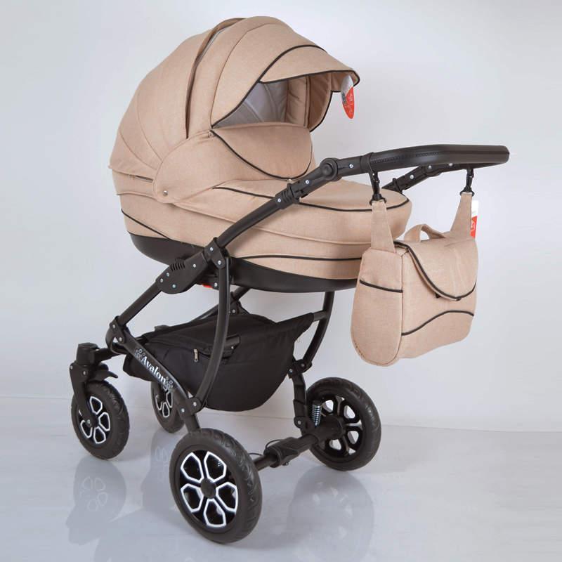 Дитяча універсальна коляска 2 в 1 2 в 1 AVALON Biege