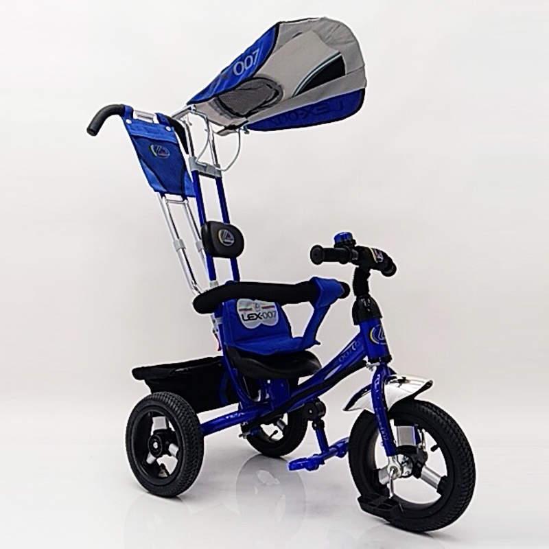Детский трехколесный велосипед Lex 007 AIR wheels Blue