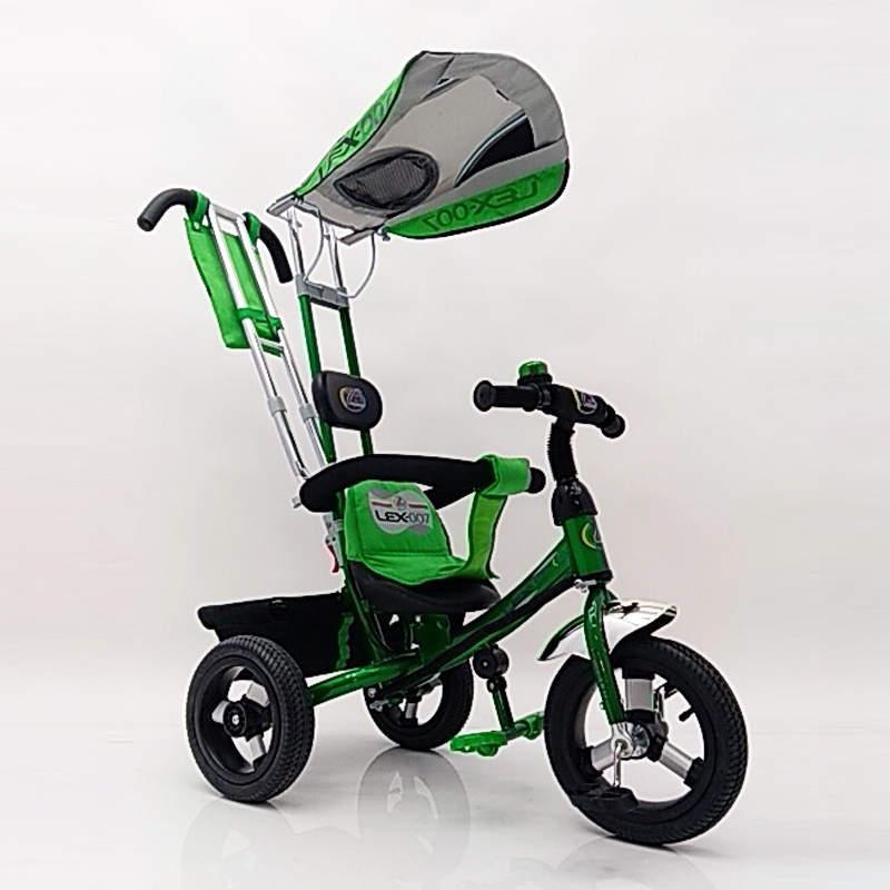 Дитячий триколісний велосипед Lex 007 AIR wheels Green