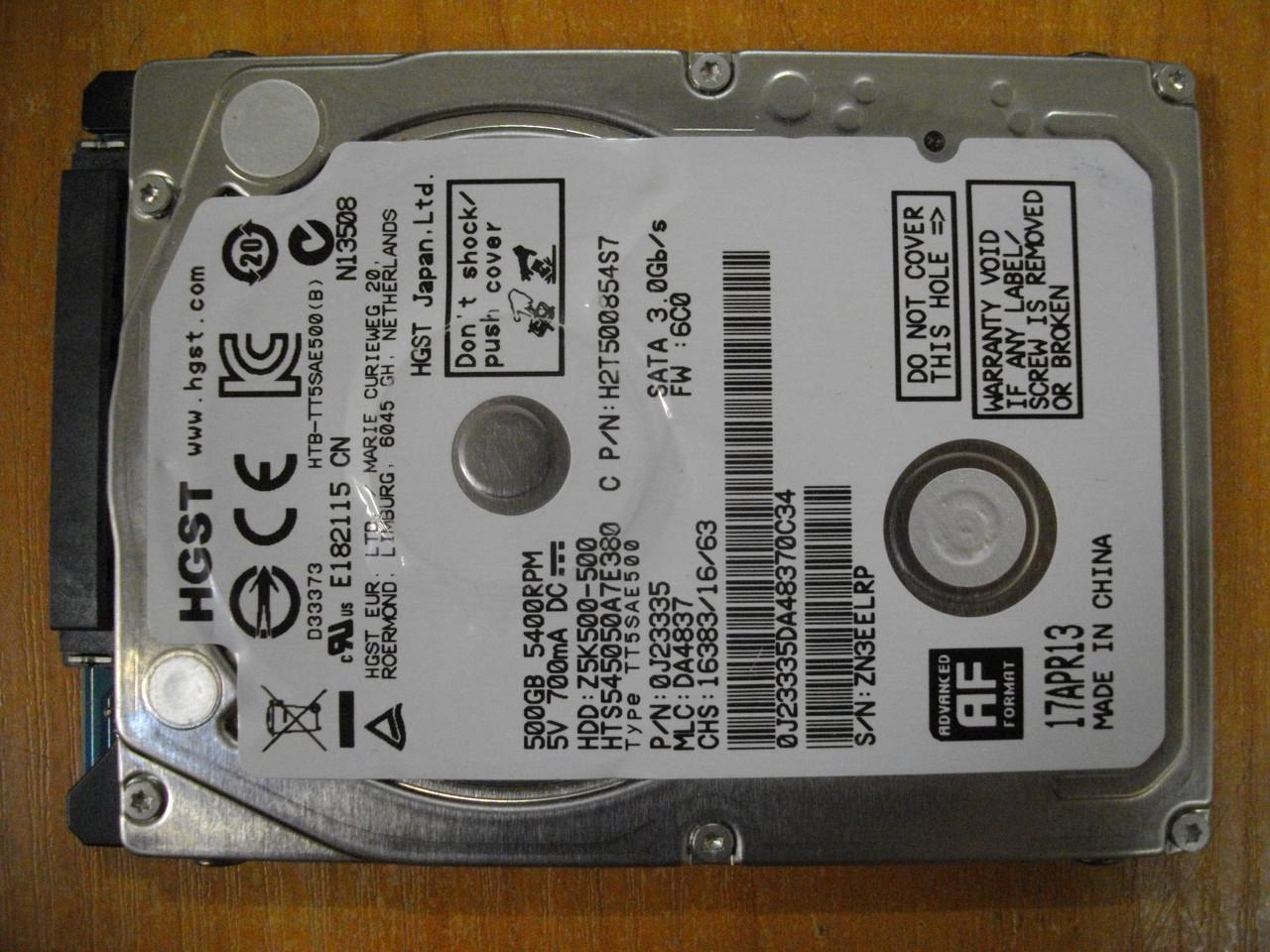 HDD Жесткий диск HITACHI 500GB Z5K500-500 SATA БУ Хорошее состояние.