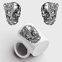 Кружка с принтом Skull Art. Череп Арт. Чашка с фото, фото 1
